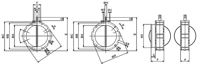 气动阀体结构图